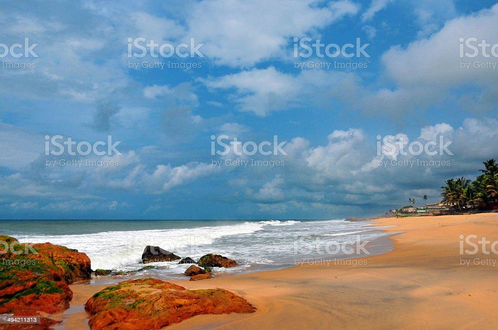 Ghana, Cape Coast, beach stock photo