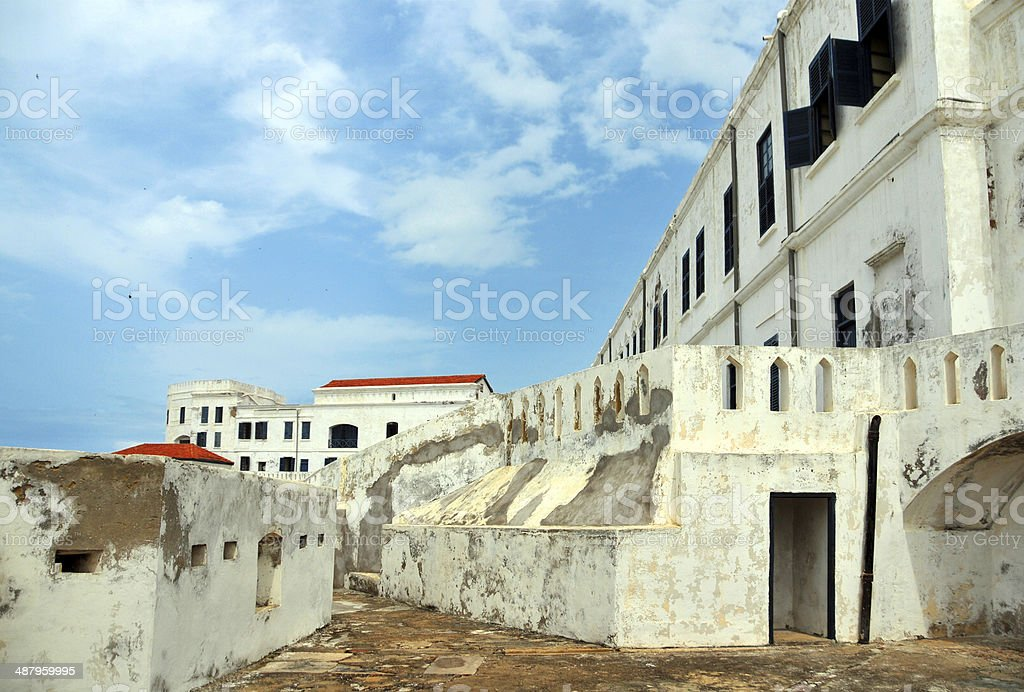 Ghana, Cape Coast Castle from the ramparts stock photo