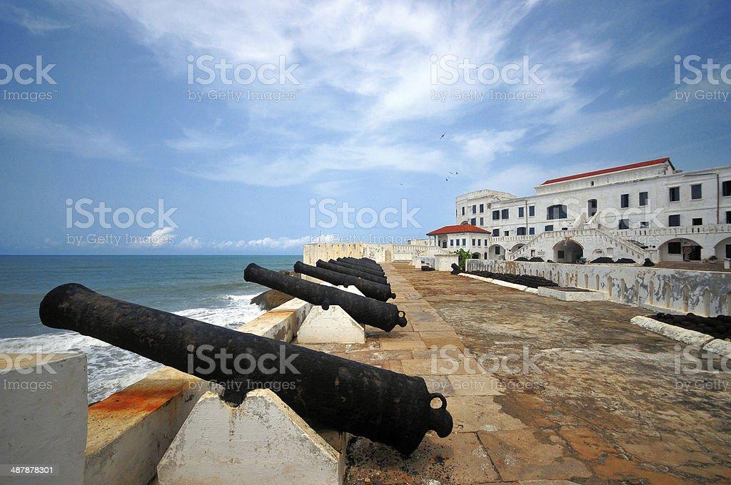 Ghana, Cape Coast castle, gun battery stock photo