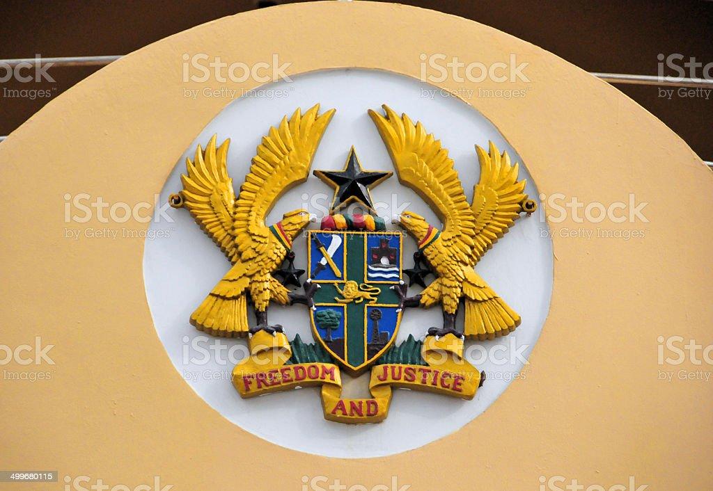 Ghana coat of arms stock photo
