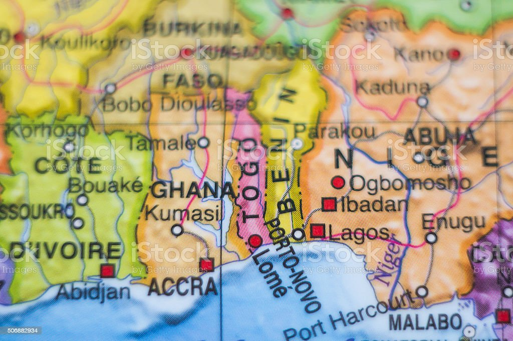 Ghana country map . stock photo