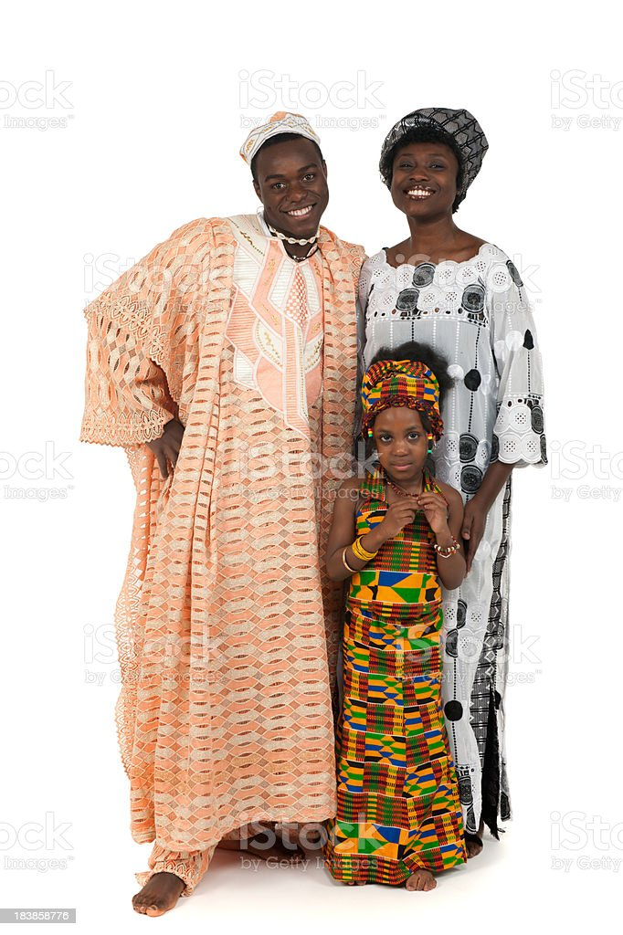 Ghana cultural clothing royalty-free stock photo