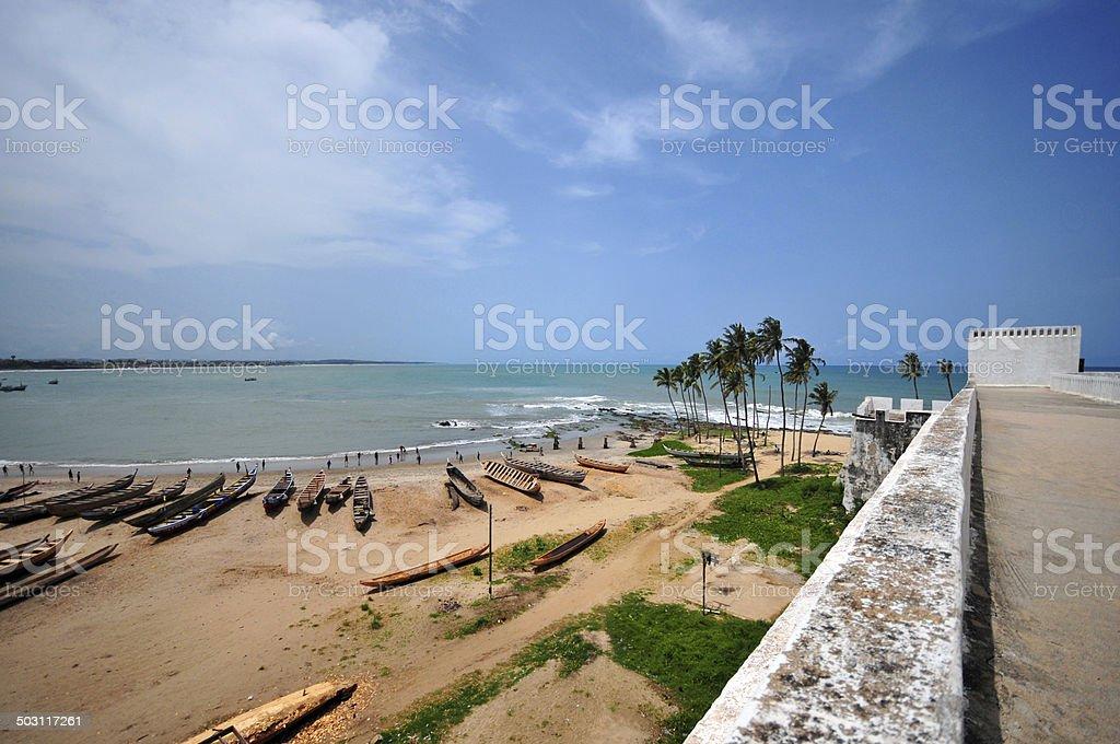Ghana, Elmina beach royalty-free stock photo