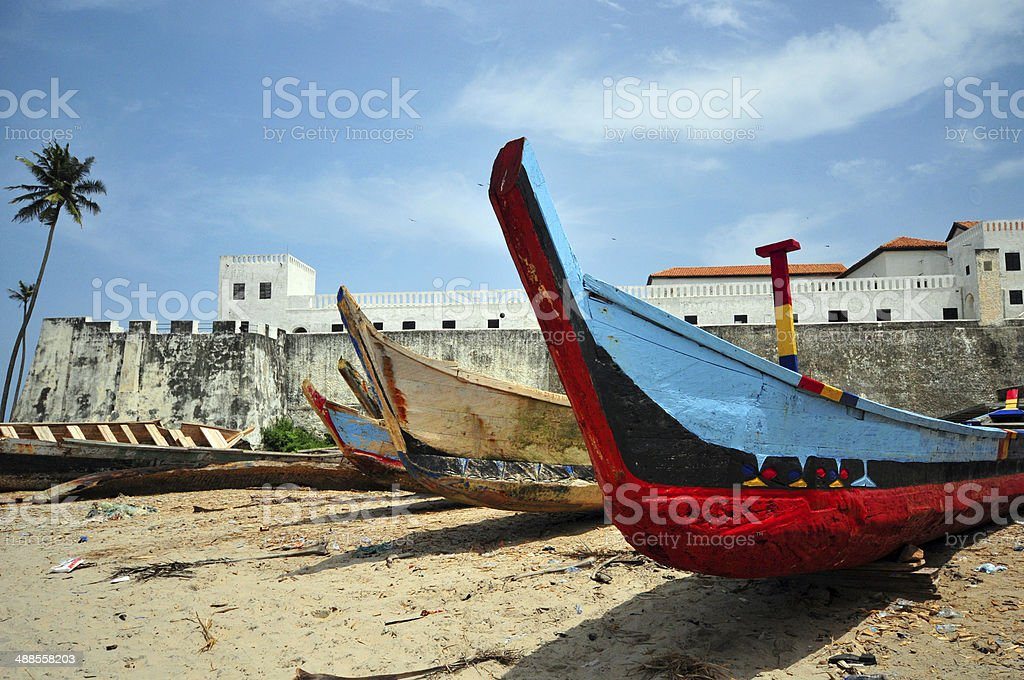 Ghana, Elmina castle stock photo