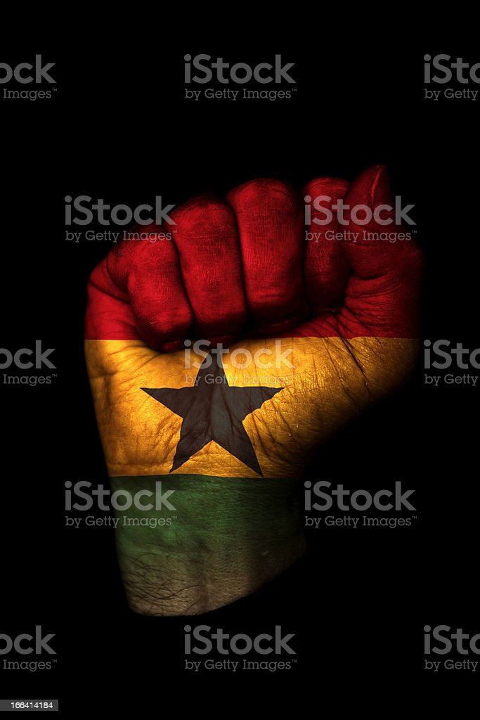 Ghana Flag Fist royalty-free stock photo