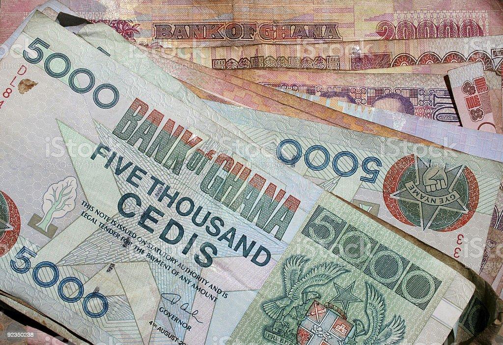 ghana money (cedi) stock photo