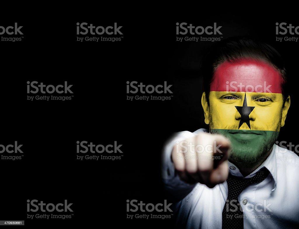 Ghana Soccer Fan royalty-free stock photo