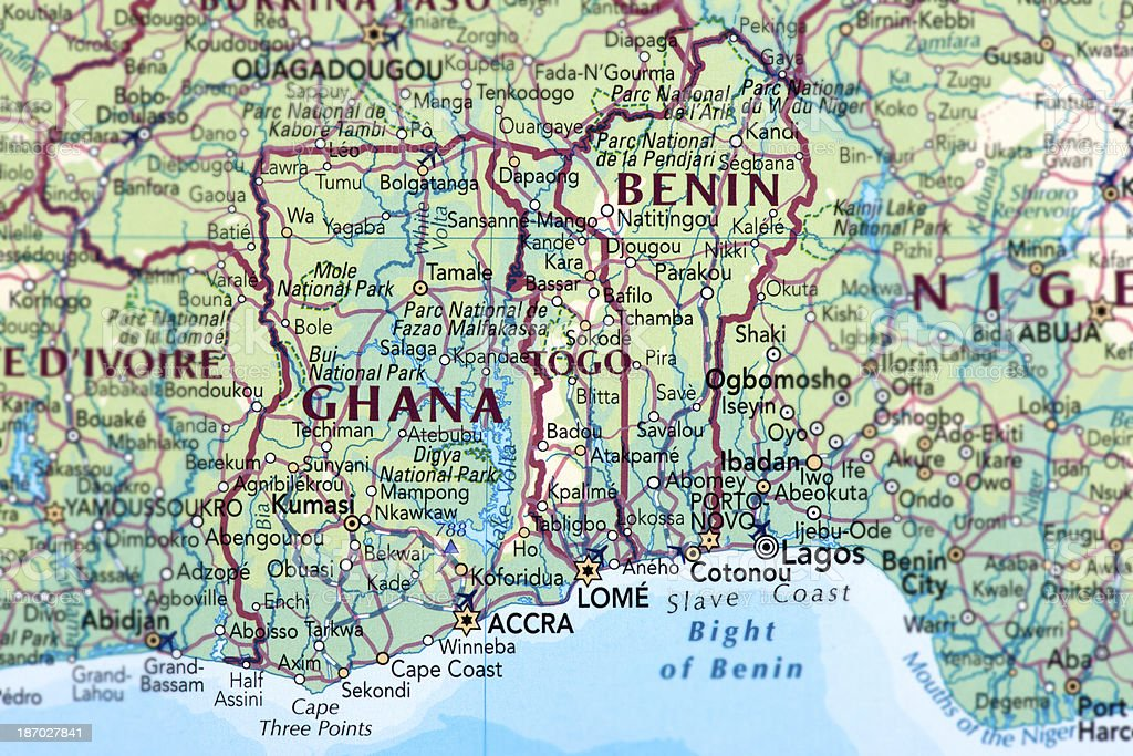 Ghana, Togo and Benin stock photo