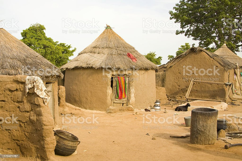 Ghana: Traditional Houses of Yikpabongo Village stock photo