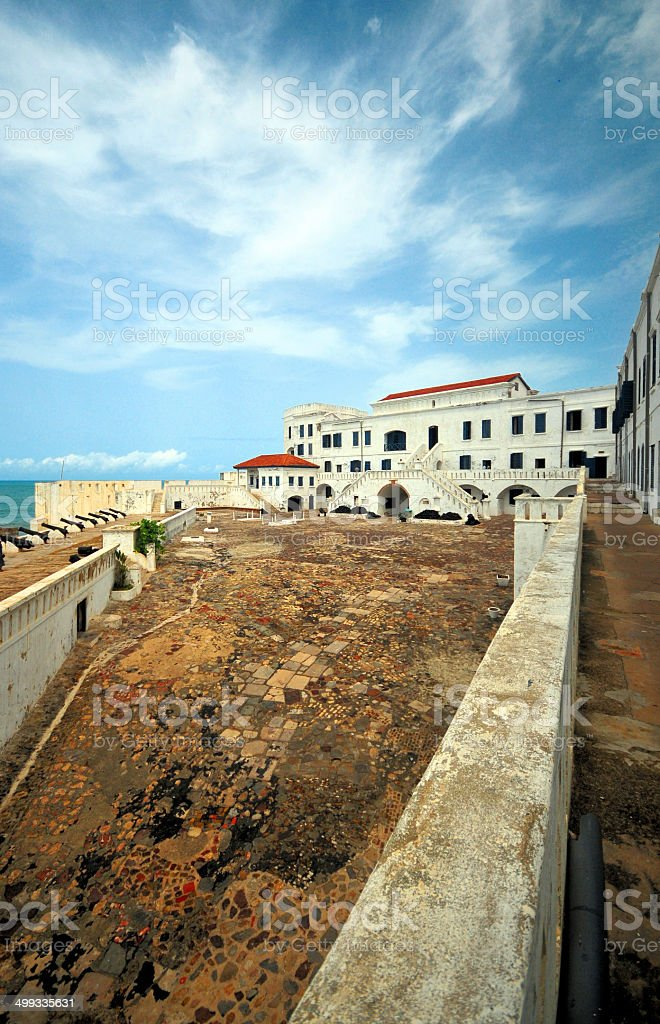 Ghana, West Africa: Cape Coast Castle - court yard view stock photo