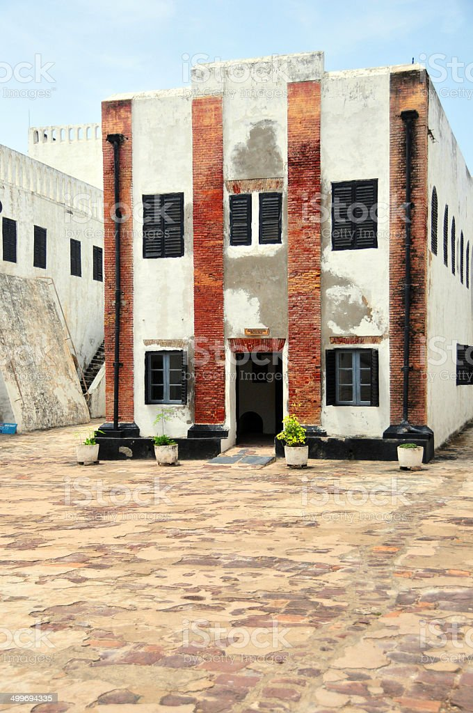 Ghana, West Africa: Elmina castle, Portuguese church stock photo
