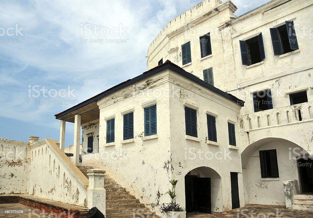 Ghana, West Africa: the whitewashed Cape Coast Castle stock photo