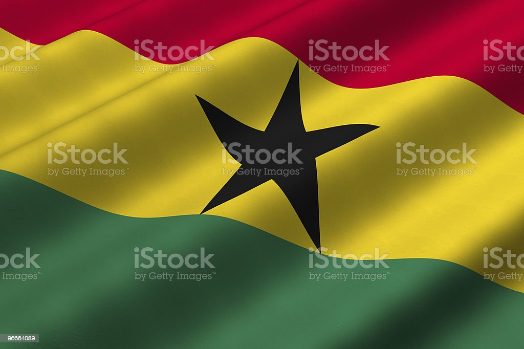 Ghanaian Flag stock photo