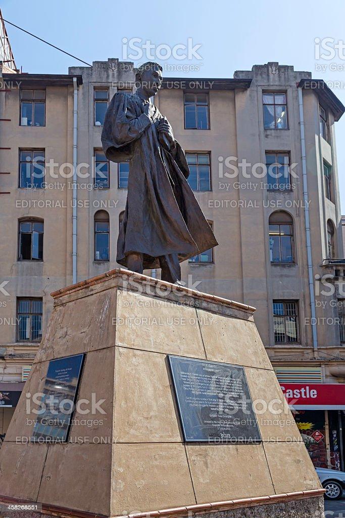 Ghandi memorial in Johannesburg stock photo