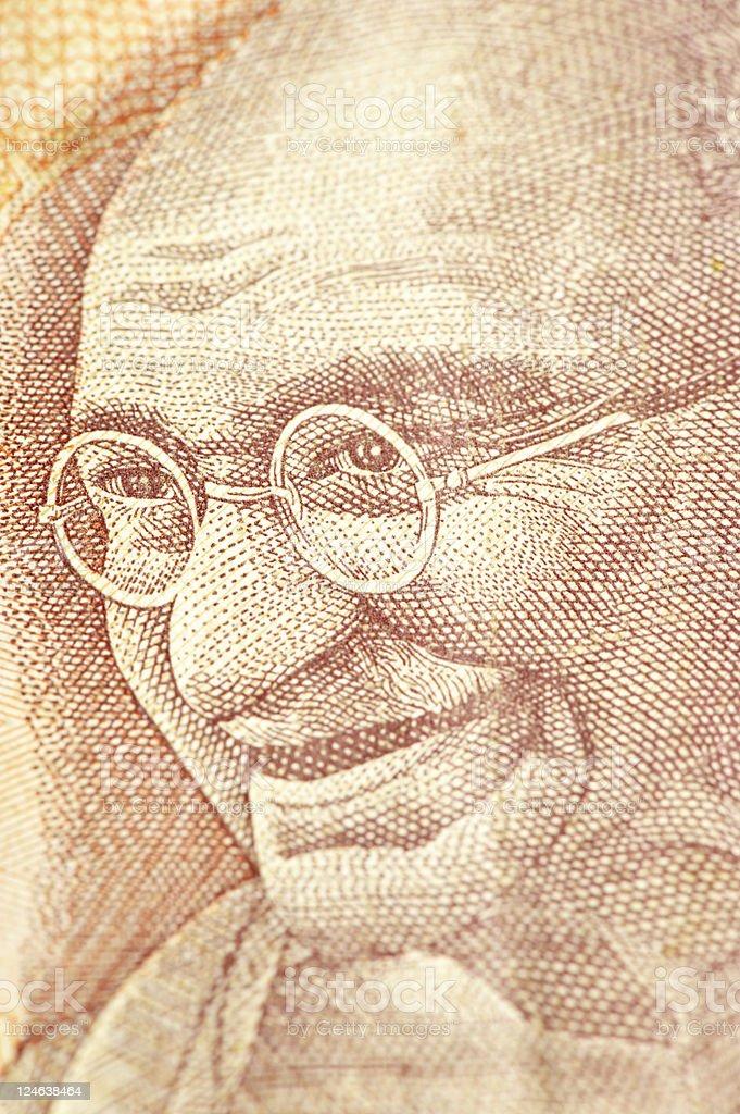 Ghandi on Banknote stock photo