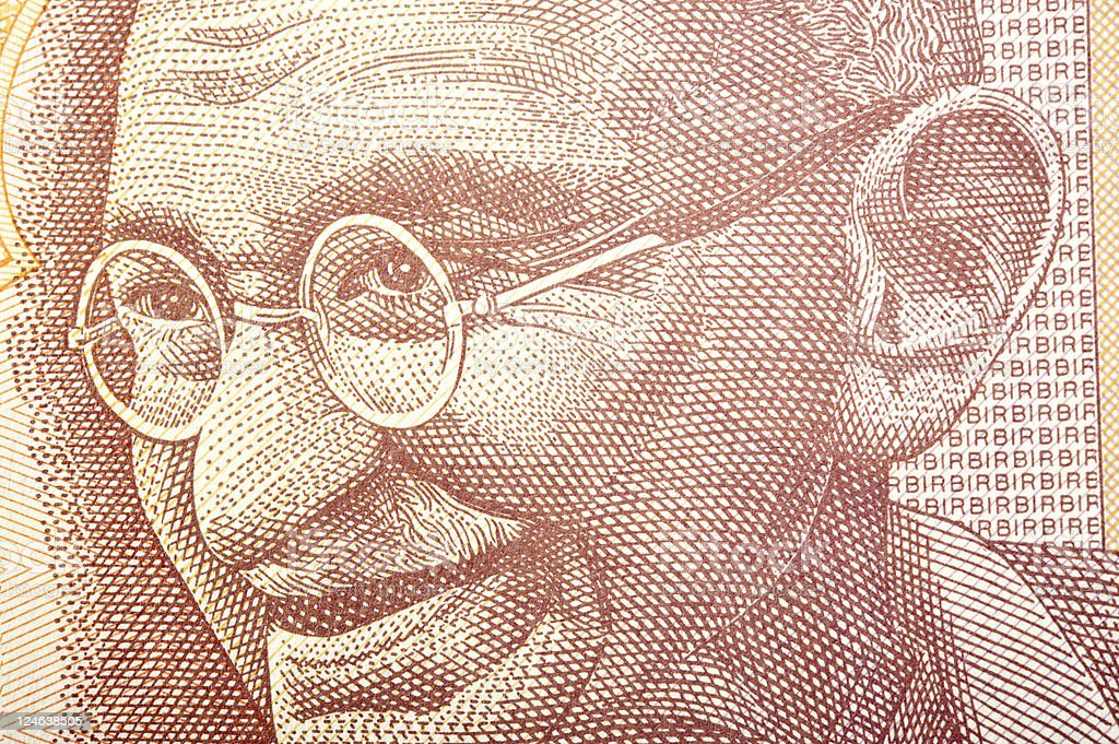 Ghandi on Banknote royalty-free stock photo