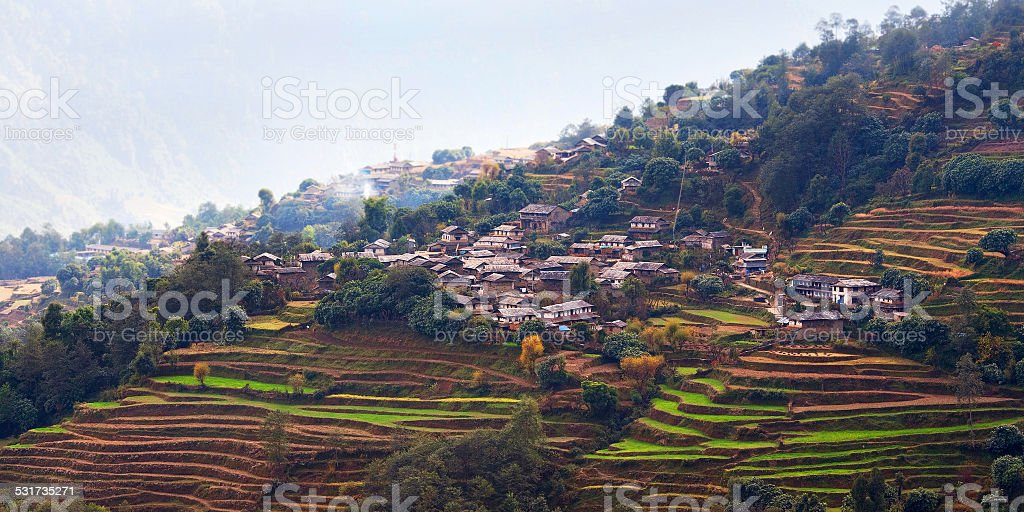 Ghandruk village, Nepal stock photo