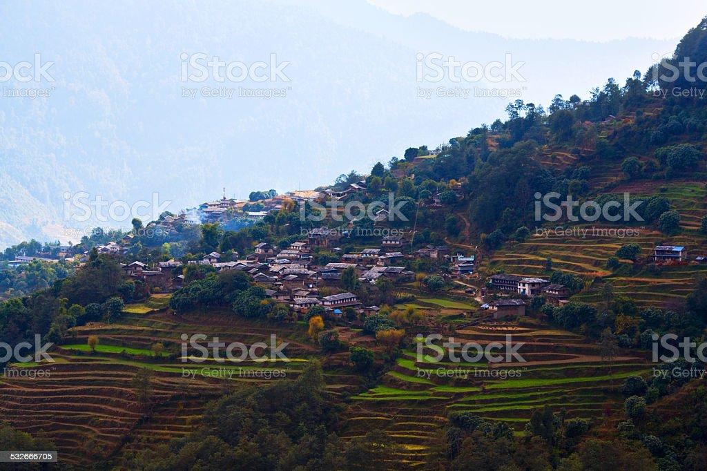 Ghandruk village, Nepal stock photo