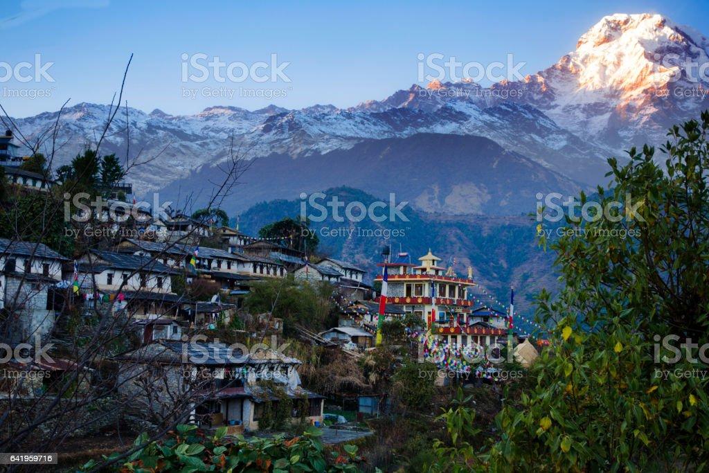 Ghandruk village stock photo