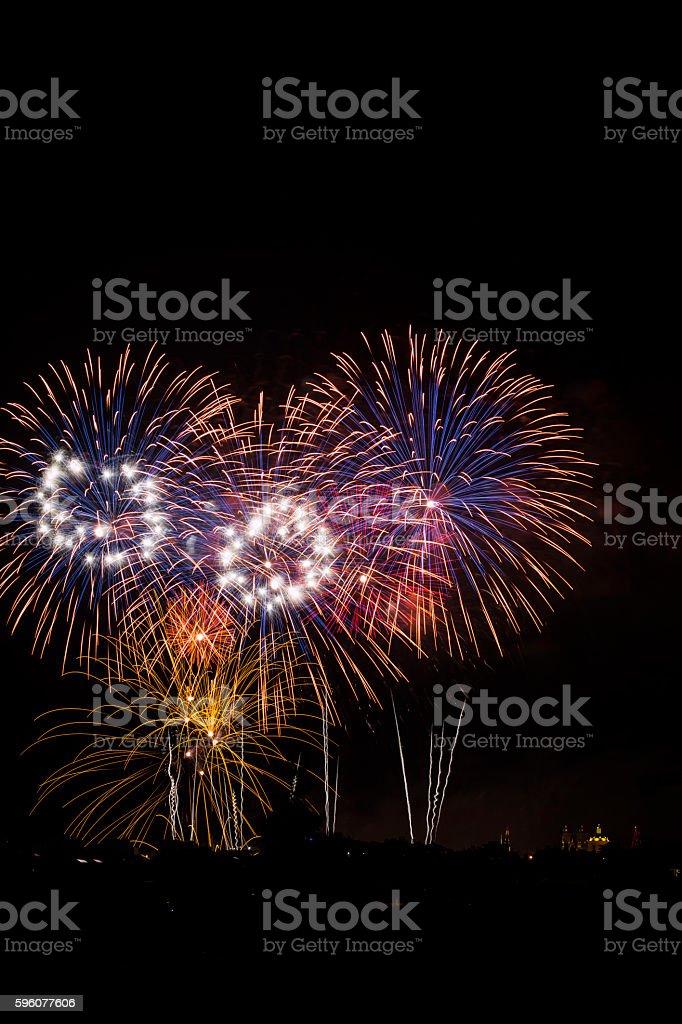 Gharghur fireworks, Malta stock photo