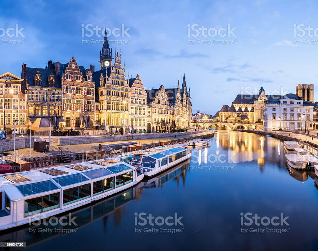 Ghent Belgium stock photo