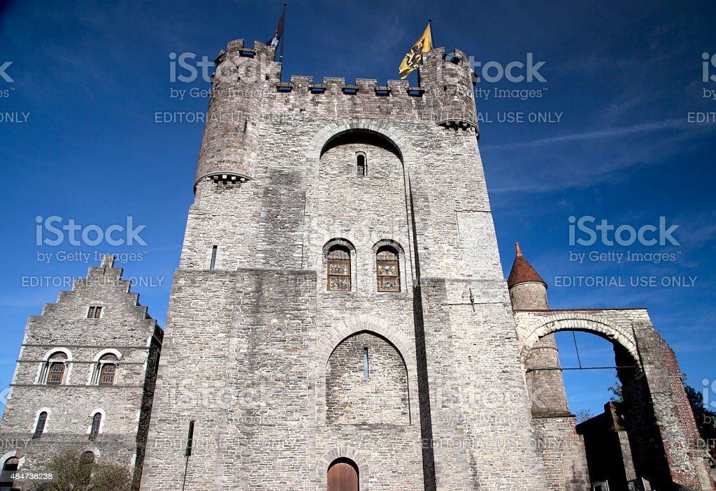Ghent Castle stock photo