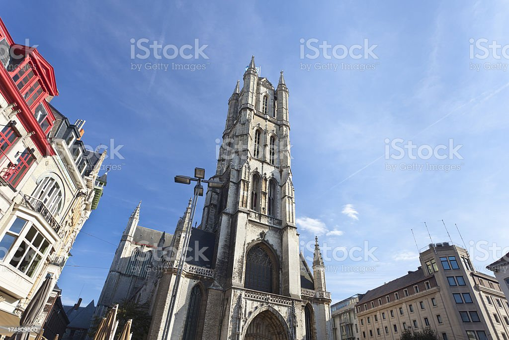 Ghent Cathedral royalty-free stock photo