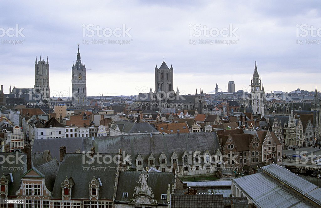 Ghent from Above royalty-free stock photo
