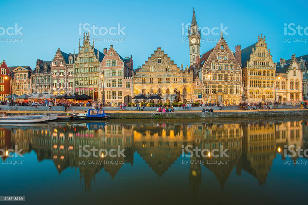 Ghent in Belgium the Medieval City Town Europe stock photo
