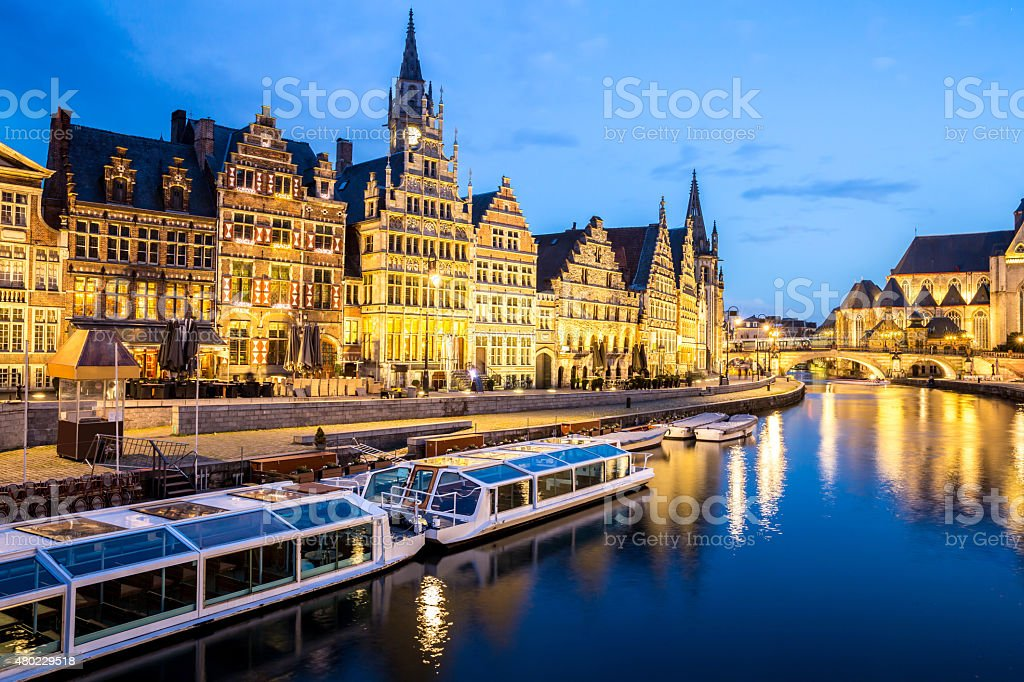 Ghent Old town Belgium stock photo