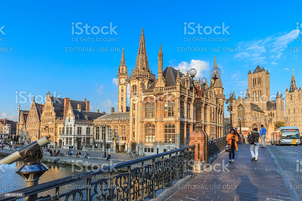 Ghent, Old Town - Belgium stock photo