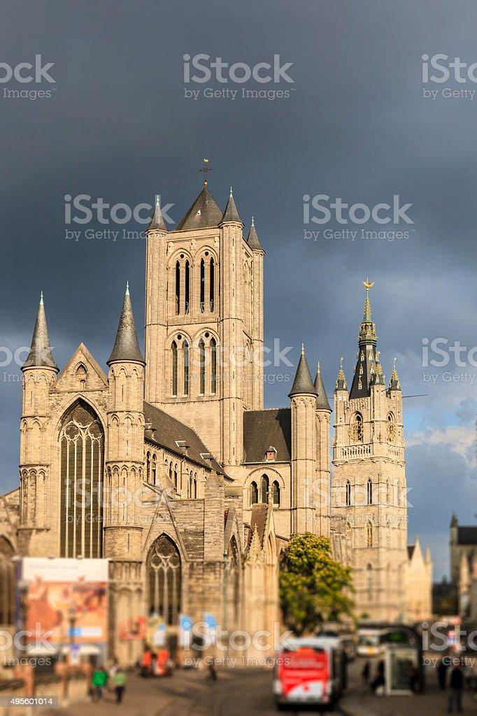 Ghent, St. Nicholas' Church - Belgium stock photo