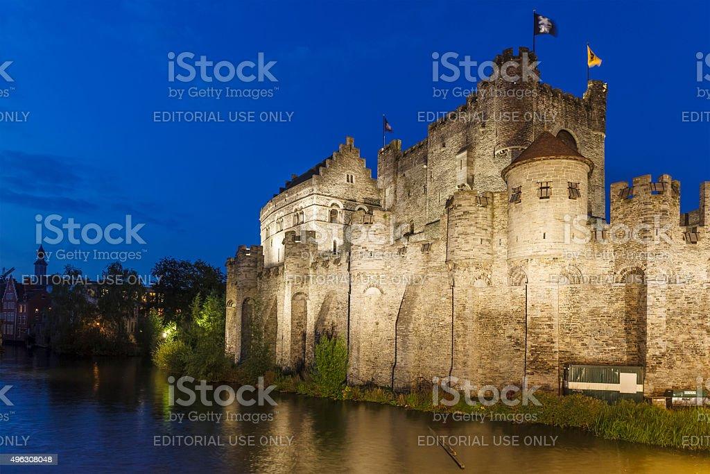 Ghent, The Gravensteen - Belgium stock photo