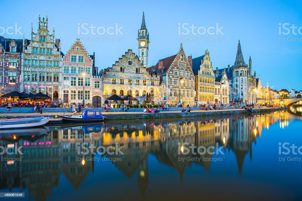 Ghent the medieval town in Belgium stock photo