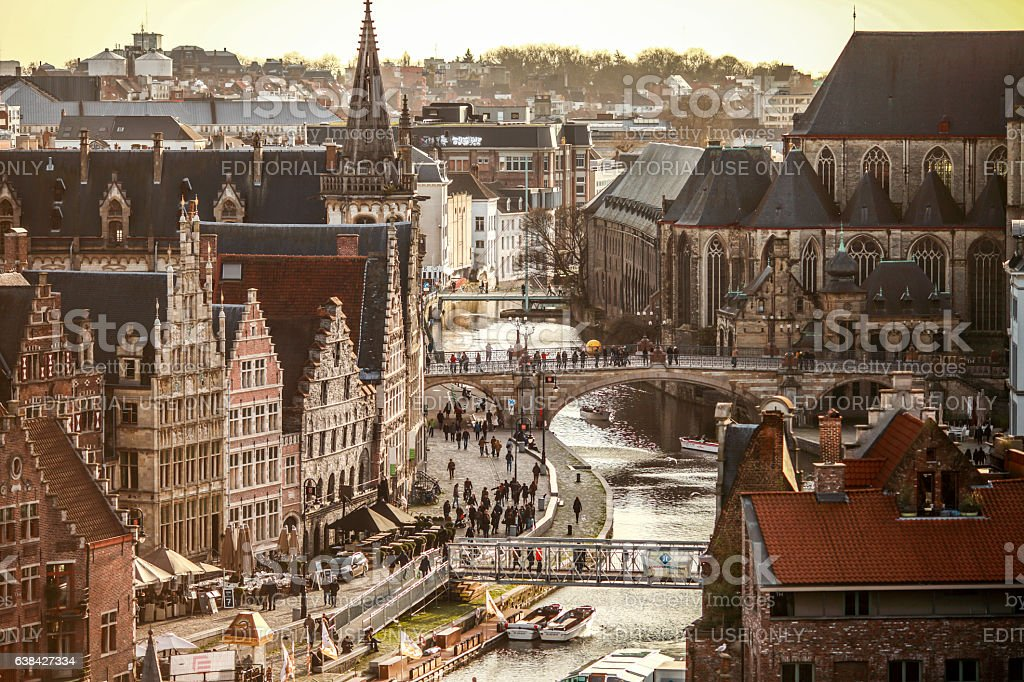 Ghent View stock photo