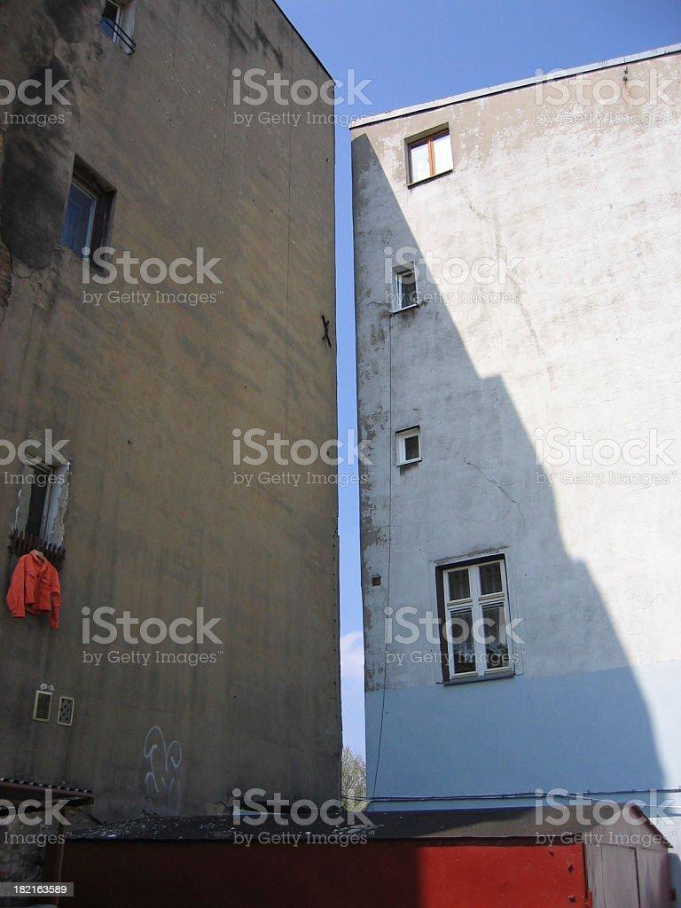 Ghetto apartment house royalty-free stock photo