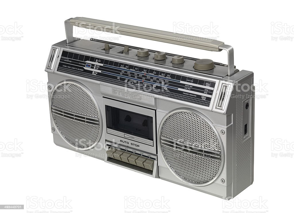 Ghetto Blaster isolated stock photo