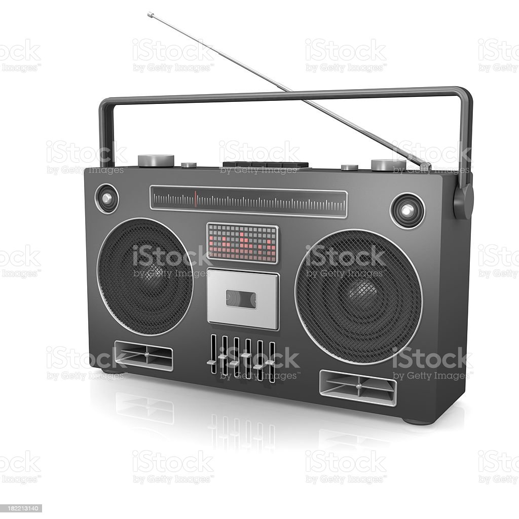 Ghetto Blaster stock photo