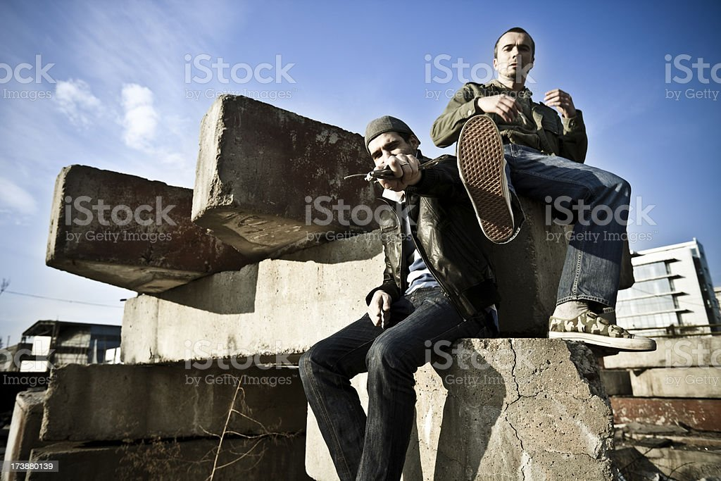 Ghetto boys royalty-free stock photo