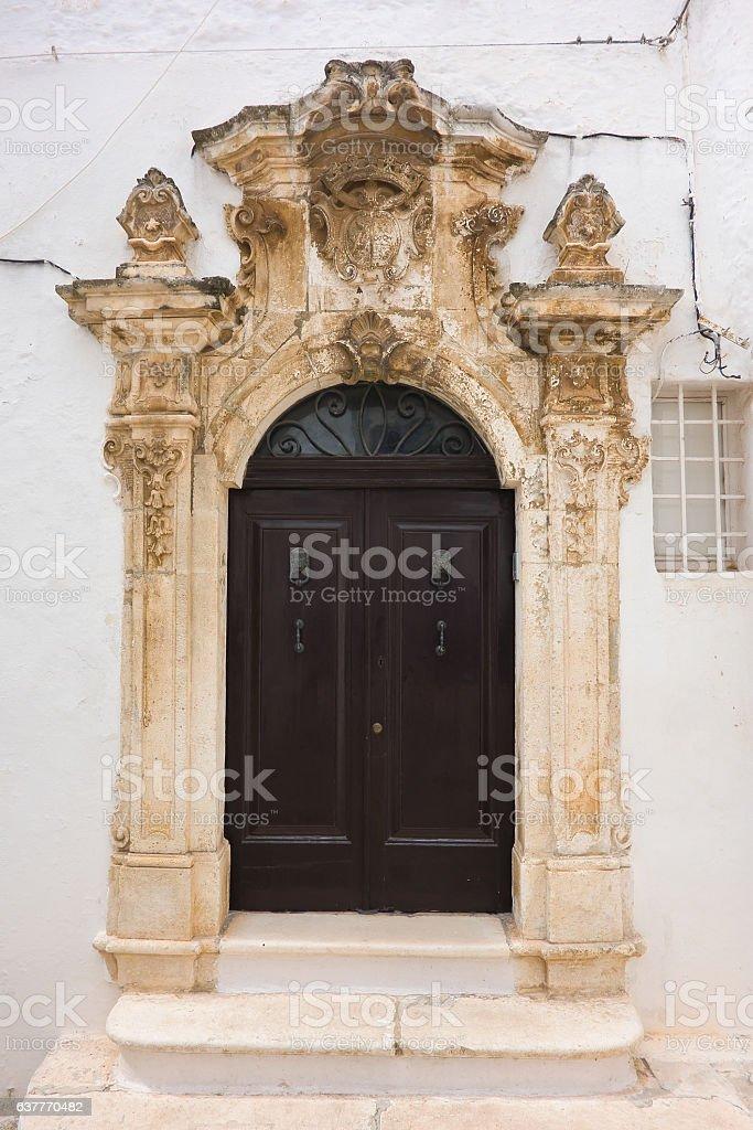 Ghionda Palace. Ostuni. Puglia. Italy. stock photo