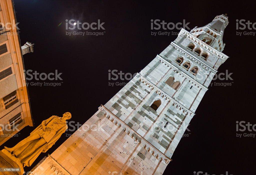 Ghirlandina Tower, Modena stock photo