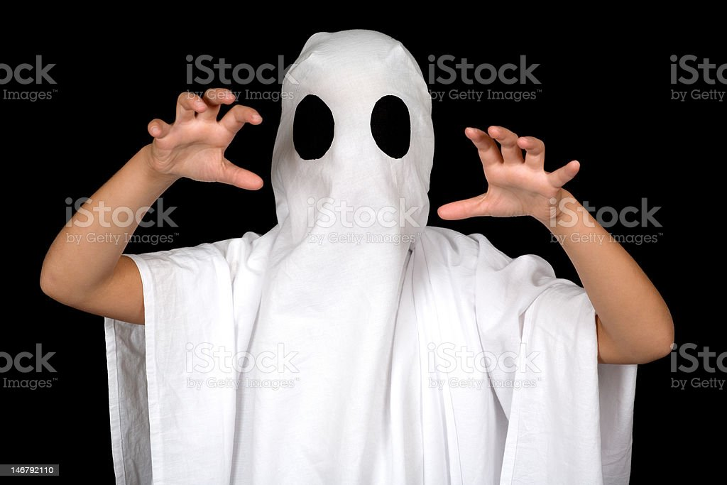 ghost child stock photo