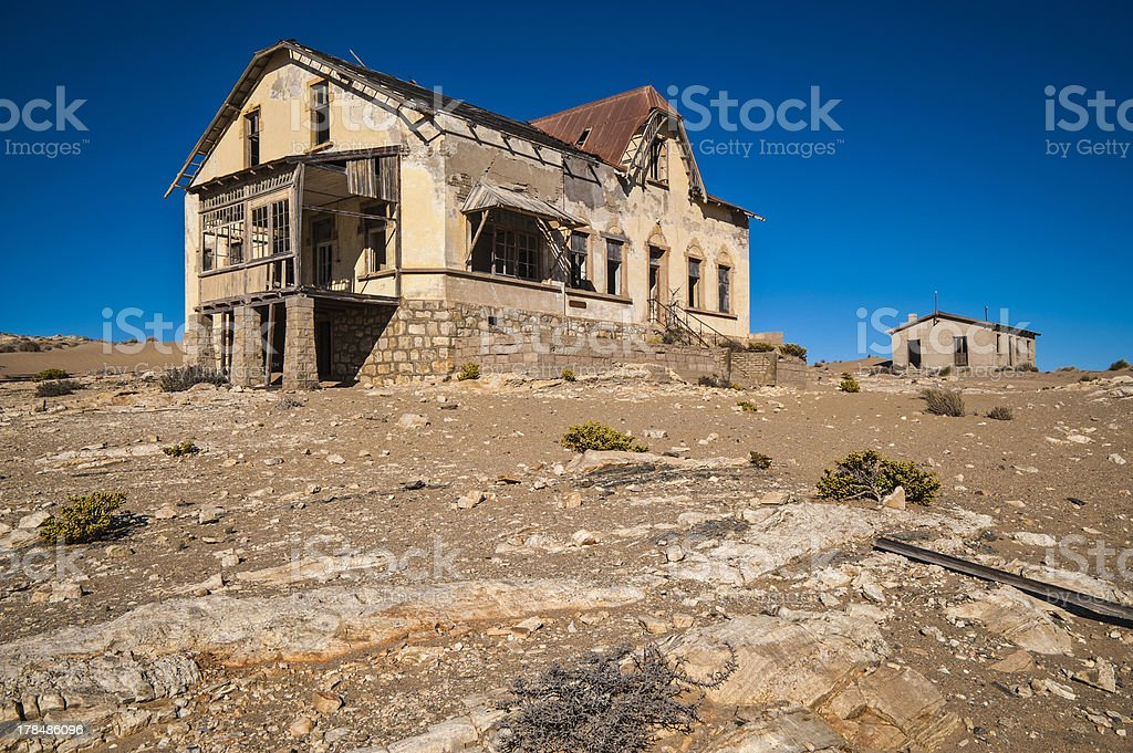 Ghost diamond mining town Kolmanskop royalty-free stock photo