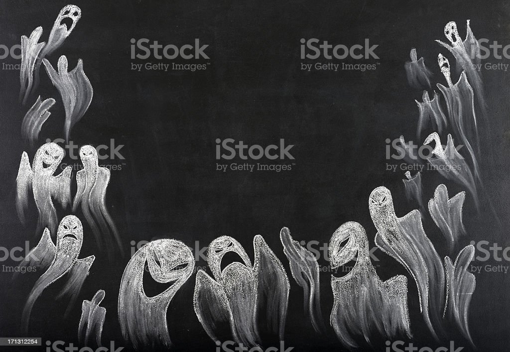 Ghost Frame Background.Copy Space. stock photo