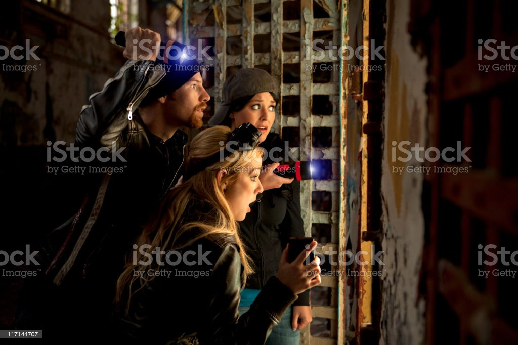 Ghost Hunters stock photo