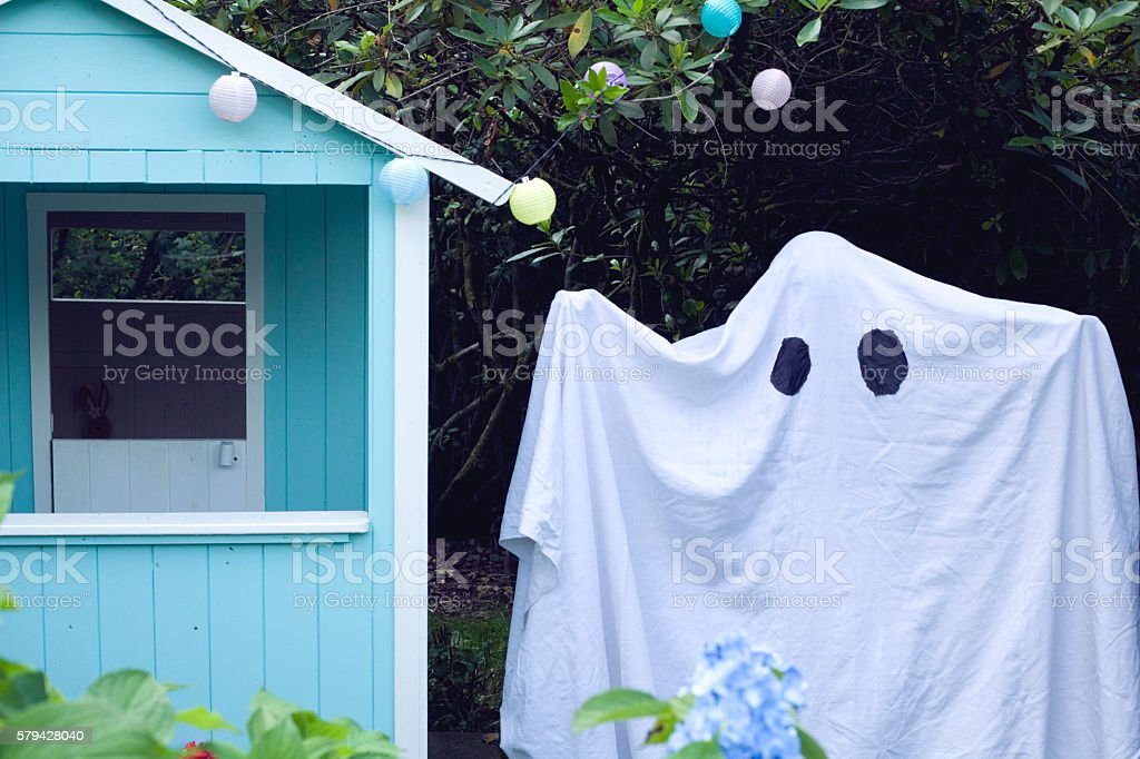 Ghost hut stock photo