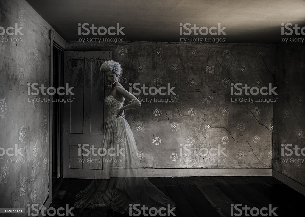 Ghost in an empty room royalty-free stock photo