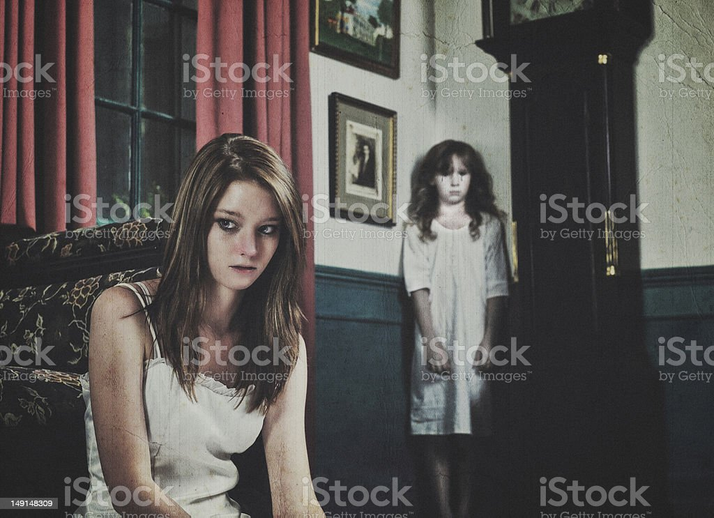 Ghost in the Corner royalty-free stock photo
