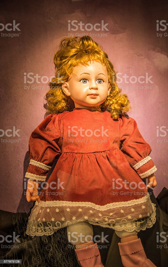 Ghost inside doll, Ghost dolls stock photo