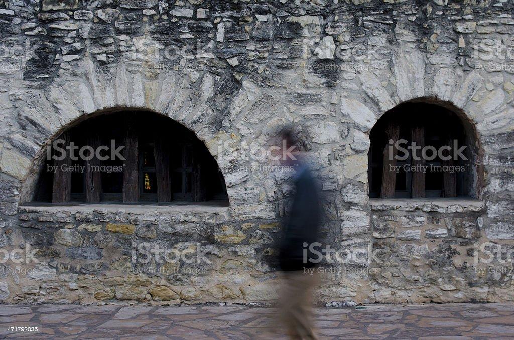 Ghost of the Alamo stock photo